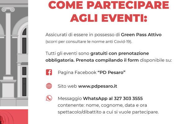 Partecipare Festa Unità Pesaro 2021